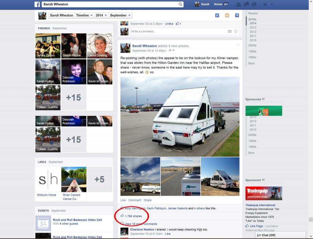 stolen Aliner FB shares